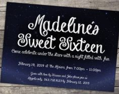 Sweet 16 Under The Stars Theme Party!