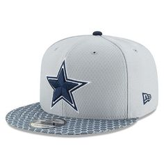 eb8bcd9b4368c Dallas Cowboys New Era 2017 Sideline Official 9FIFTY Snapback Hat - Gray