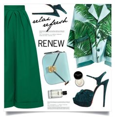 """""""Tropical Nights On My Mind ..."""" by marina-volaric ❤ liked on Polyvore featuring Marni, F.R.S For Restless Sleepers, Christian Louboutin, MCM, Bobbi Brown Cosmetics, tropicalprints and Delpozo"""