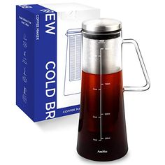 Diy Tea Brewer Recipes Kit 1 Quart Premium Cold Brew Coffee Maker Pitcher /& Filter Kit 32oz 2 Pack