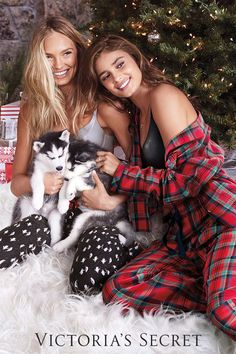 Santa's little helpers: comfy #pajamas.   Victoria's Secret