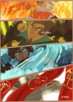 We fight until end. #Mako #Bolin #Korra #Amon