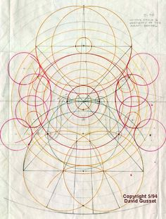 'In the Style & Geometry of the Amati School' (1994) by instrument designer & violin maker David Gusset. A violin design based on the Golden Ratio.