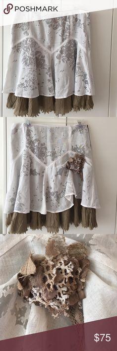 """Stefanel skirt Stefanel  layered skirt size US small 100%cotton  waist 30""""  length  21"""" made in Italy like new Stefanel Skirts Mini"""