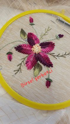 These are easy yet profitable DIY crafts anyone can make and sell for . French Knot Embroidery, Embroidery On Clothes, Hand Embroidery Stitches, Floral Embroidery Patterns, Needlepoint Patterns, Embroidery Designs, Brazilian Embroidery, Bargello, Diy Crafts