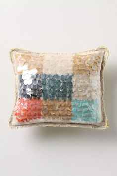 Unexpected Paillete Pillow, Small #anthropologie this would look great with my anthro comforter!