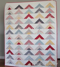 Triangles from Strips Quilt Tutorial