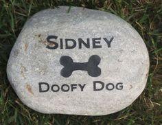 Custom Dog Memorials Grave Marker Pet Memorial 6-7 Inch Memorial Pet Stone Burial Gravestone Marker