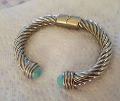 Bracelet Hinged Open Cuff Bangle Faux Turquoise Ends  | Jewelry & Watches, Fashion Jewelry, Bracelets | eBay!