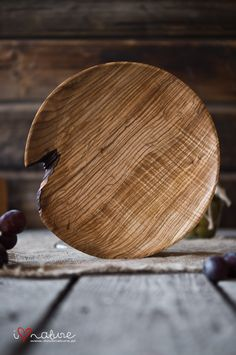 handcrafted ash wood plate