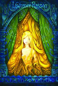 Raiponce. from Grimm's fairie tale: Rapunzel Medium : Acrylic