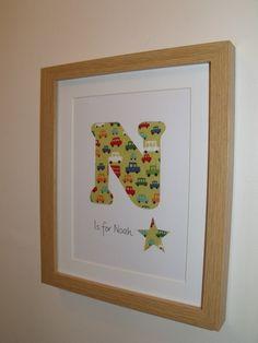 Framed Name Letter Initial Hand Papercut Wall Art £10.00