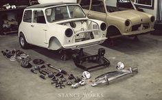 StanceWorks - Restoring our 1969 Morris Mini Mini Cooper Custom, Mini Cooper Classic, Mini Cooper S, Classic Mini, Classic Cars, Mini Morris, Cooper Car, Minis, Mini Photo