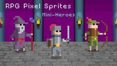 RPG Pixel Sprites - Mini Heroes