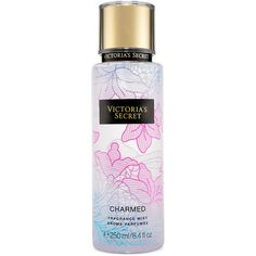 Victoria's Secret Charmed Fragrance Mist ($18) ❤ liked on Polyvore featuring beauty products, fragrance, blue and spray perfume