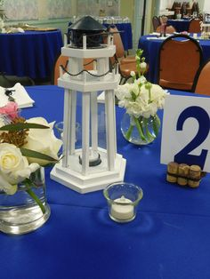 Table centerpieces - lighthouse table
