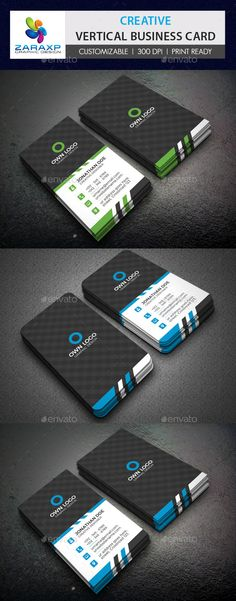 Creative Vertical Business Card Template #design Download: http://graphicriver.net/item/creative-vertical-business-card/12478979?ref=ksioks