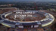 Vidéo aérienne de l'Apple #Campus 2 en 4K et sa façade lumineuse