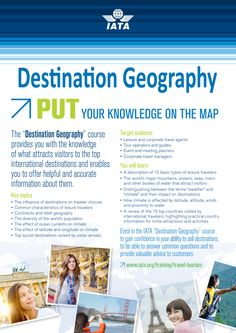 IATA Destination Geography !!! Study at Riya Institute and achieve a great path for your career. For more information call +91 9562700121 or visit our website. #travel #tour #job #career #airline