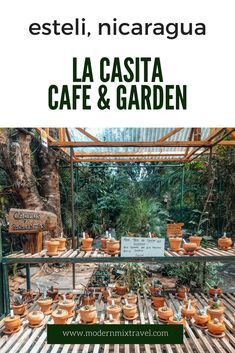 "La Casita, which is translated as ""Little House"", is a peaceful outdoor garden cafe in Esteli, Nicaragua.  Visit this hidden gem before all the tourists find out about it!"