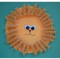 Macaroni Paper Plate Lion