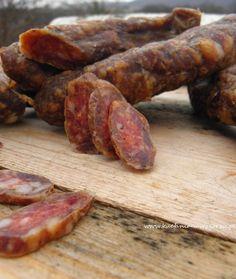 Chorizo Dried Sausage Recipe, Homemade Sausage Recipes, Kielbasa, Food 52, Diy Food, Chorizo, Fruit Recipes, Healthy Recipes, Recipies