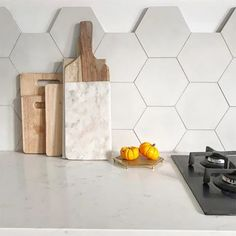 Brighton Stone Hexagonal Tile is part of Bert & May's handmade cement tile collection. Shop our range of quality tiles in plain or patterned styles, created using natural pigments. Hexagon Wall Tiles, Hexagon Tile Backsplash, Bathroom Splashback, White Wall Tiles, Kitchen Wall Tiles, Kitchen Reno, Design Kitchen, Kitchen Backsplash, Kitchen Interior