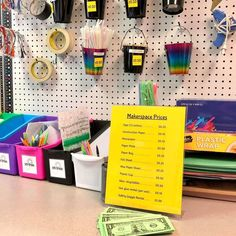 Want to sharpen math skills during STEM & save money on supplies? Charge your students! (USE FAKE MONEY OF COURSE!) My makerspace is so much tidier & my students are loving this real-world simulation while their brains are growing! Join the convo on our Insta! Fun Math Activities, Math Games For Kids, Math Skills, Math Lessons, Hands On Learning, Construction Paper, Teaching Tips, Some Fun, Students
