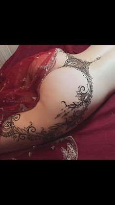 Low back to hips henna