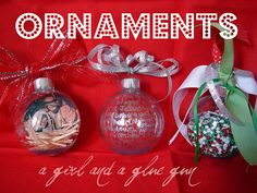 Fun ways to decorate those clear ornament balls.