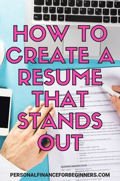 Learn how to create the perfect resume that sounds out from the competition. Check out these resume tips. Here's everything you need to know about resume writing and resume design. Personal Finance Articles, Finance Tips, Resume Writing Tips, Resume Tips, Professional References, Professional Development, Make Money From Home, How To Make Money, Business Tips