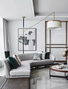 22 Mid Century Modern Style Sofa for Living Room Design Interior Design Lobby Interior, Home Interior, Modern Interior Design, Home Design, Design Ideas, Design Hotel, Contemporary Interior, Luxury Interior, Kitchen Contemporary