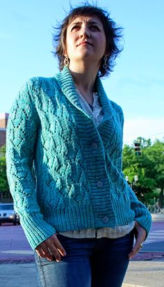 Girl Friday cardigan pattern from Knitty #pattern #knitting #cardigan #lace