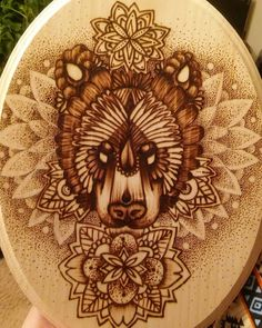 Fresh WTFDotworkTattoo Find Fresh from the Web DONE! #bear #mandala…