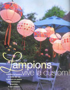 Ou utiliser les boules japonaises d cor es pois en for Suspension 3 boules japonaises