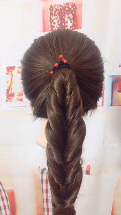 Frisuren-Tutorial 830 - - Das s Pretty Hairstyles, Girl Hairstyles, Braided Hairstyles, Hairstyles Videos, Medium Hair Styles, Curly Hair Styles, Natural Hair Styles, Natural Looking Wigs, Hair Upstyles