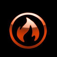 Aqua - fire logo wp by ~darkdoomer on deviantART