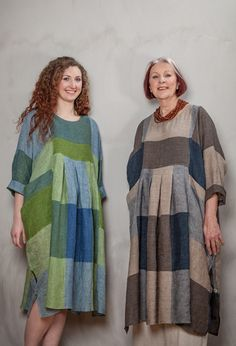 New Baggy Dress in linen - Terry Macey and Angelika Elsebach Spring / Summer Collection 2015