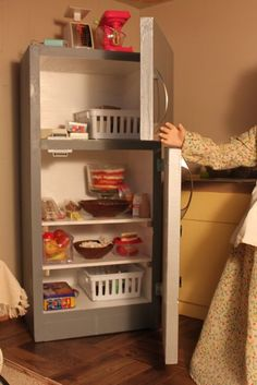MADE: Pieces For Reese: 18 inch Doll: Kitchen Part 2: Refrigerator