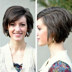 This is a luscious short hairstyle with approachable whippy layers. Layered hairstyle looks very charming and fabulous since layers can offer much volume. The various layers can makes the seductive face brighter and more presentable. Some side swept bangs across the forehead pair the smooth layered hairstyle greatly. The charming side in a tousled layered …