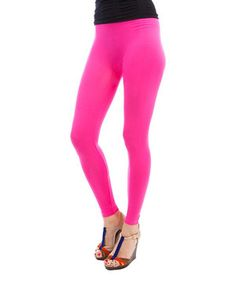 This Fuchsia Leggings by Buy in America is perfect! #zulilyfinds