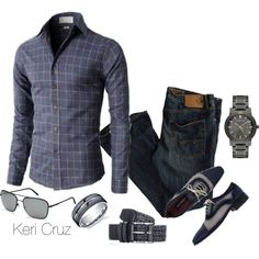 Men's Fashion by keri-cruz on Polyvore featuring polyvore, fashion, style, American Eagle Outfitters and Burberry