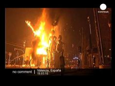 Las Fallas Festival in Valencia, Spain : festivals, special occasions, culture, society Video, no sound only