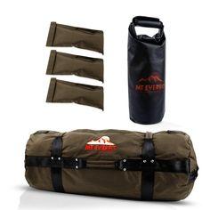 Sandbag Workout Bag & Sandbag Kettlebell Set -  Fitness Sandbags with 8 Foam Padded Handles & 3 Inner Bags - Camo / Small 25-75LB
