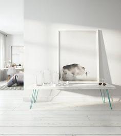 Table basse sobre et élégante avec hairpin legs
