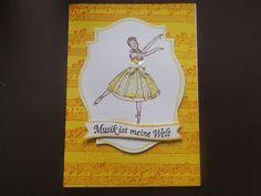 """Karten zum Thema Ballett mit dem Stampin up Set """" Dance Sketches """""""