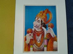 A lovely 1930's print of the Hindu Monkey God Lord by Lallibhai, £10.00