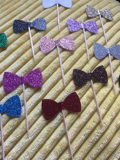 A personal favourite from my Etsy shop https://www.etsy.com/au/listing/450705004/mixed-colours-glitter-bow-tie-cupcake