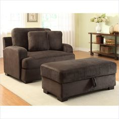 Homelegance Craine Oversized Chair And Ottoman Set In Textured Grey Plush  Microfiber     Lowest Price Online On All Homelegance Craine Oversized Chair  And ...