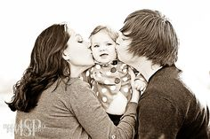 Family portrait - baby kisses - lesbian love #Las Vegas photographer | photo by Mona Shield Payne Photography